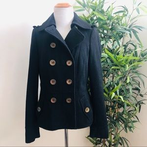 Black H&M Pea Coat | 8